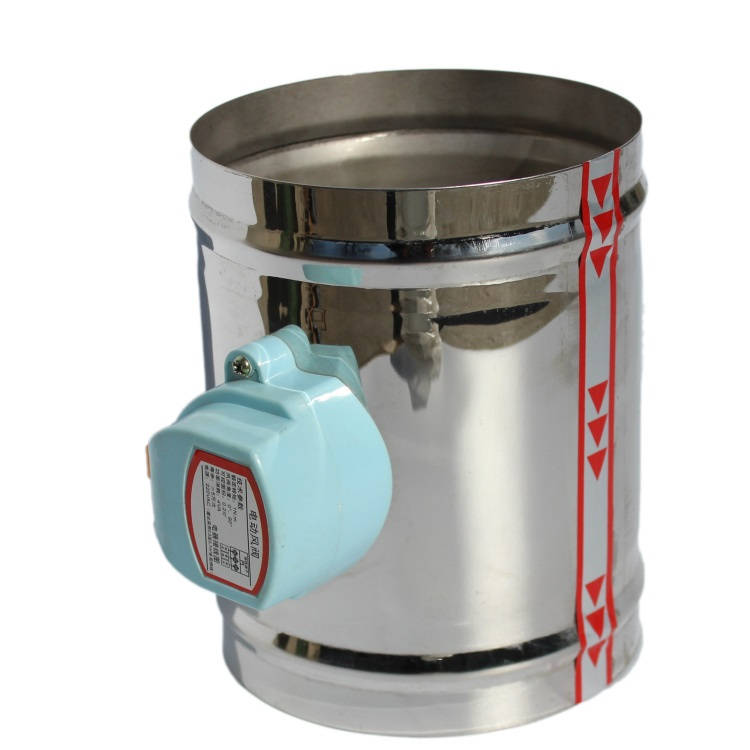 125mm stainless steel air damper valve HVAC electric air duct motorized damper for 5
