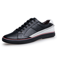 New Big Size Men Shoes Fashion Black Men Casual Shoes Genuine Leather Male Casual Shoes Luxury