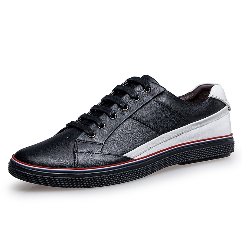 New Big Size Men Shoes Fashion Black Men Casual Shoes Genuine Leather Male Casual Shoes Luxury Italian Brand Men Flats Shoes plus size 39 48 new fashion designer mens casual shoes pu leather black luxury wedding shoes men flats office for male