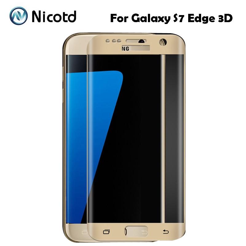 3D изогнутое закаленное стекло для Samsung Galaxy S7 Edge, защита экрана, полное покрытие, безопасная Защитная пленка для Galaxy S8 plus s7edge