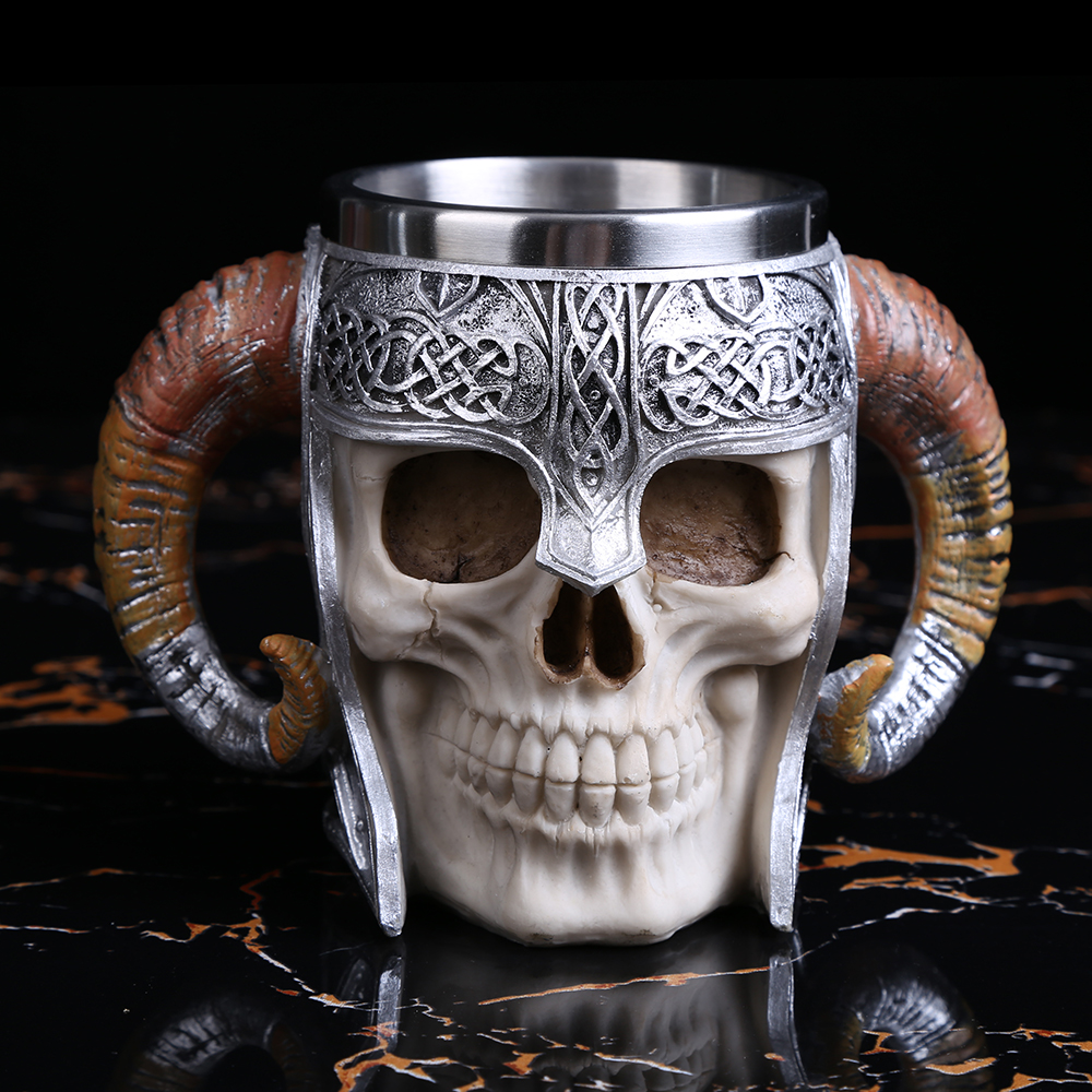 1PCS 600ML Viking Ram Horned Pit Lord Warrior Skull With Battle Helmet Beer Stein Tankard Coffee Cup Mug ePacket Many Stocks1PCS 600ML Viking Ram Horned Pit Lord Warrior Skull With Battle Helmet Beer Stein Tankard Coffee Cup Mug ePacket Many Stocks