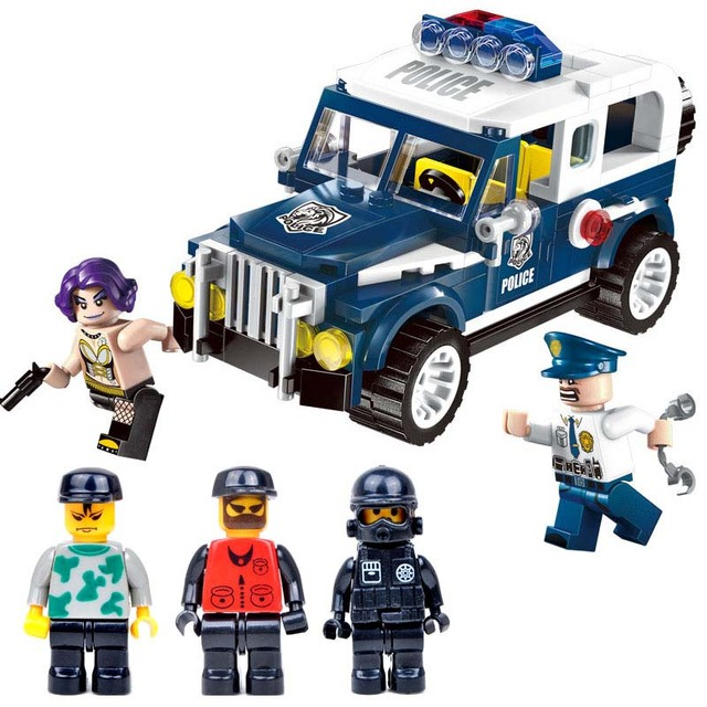 police car and 5doll