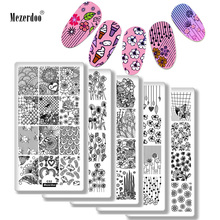 10Pcs Various Design Nail Stamping Plates Set Flowers Love Snake Nail Art Polish Stamp DIY Template Manicure Nail Tools Stencil недорого