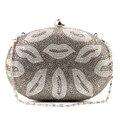 GX Women Bag 2016 Fashion Diamond Lips Evening Bags Classic Day Clutch Wedding Party Shoulder Bags Ladys Gift
