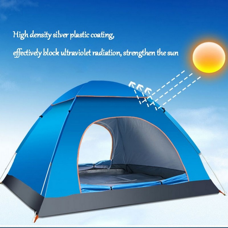 3-4 Persons Outdoor Quick Automatic Opening Tent Fishing Tent Camping Hiking Beach Summer UV Protection Waterproof Tent naturehike camping tent quick automatic opening washing toilet tent fishing restroom portable outdoor tent mobile bathroom