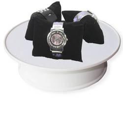 Мода на белый бархат Электрический поворотный ювелирные изделия сотовый телефон вращающихся поворотный дисплей базы Бесплатная доставка