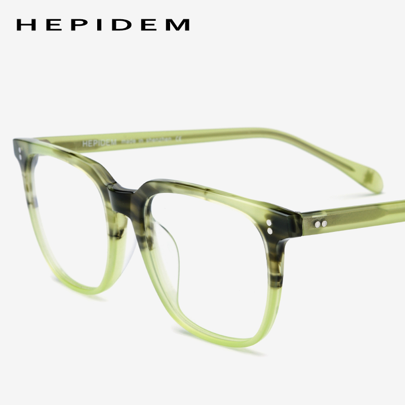 Acetate Eyeglasses Frame Men Square Prescription Glasses 2019 New Men's Male Myopia Optical Frames Clear Spectacles Eyewear 9114
