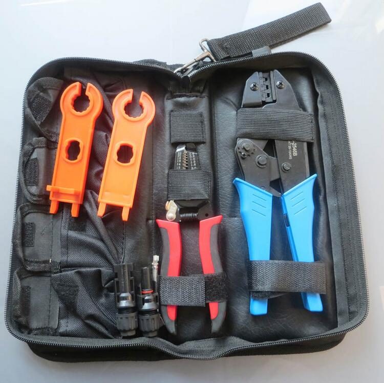 1 set/lot MC4 Crimping tool for MC4 connector solar cable 2.5m2 4mm2 6mm2 PV Crimp Cutting tools kits DIY wire solar crimping tool kits with 2 5 6 0mm2 crimping tool mc3 mc4 crimping die solar tool set with mc4 mc3 crimper stripper cutter