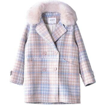 Mishow 2019 Women Coat outerwear winter clothing fashion warm woolen blends female elegant Double Breasted woolen coat MX18D9679 6