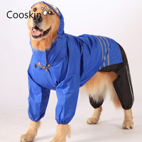 الذهبي المسترد واق outdoor هوديس معطف ملابس سوبر waterpoof الكلب لابرادور كبير بذلة pet المطر سترة عاكسة
