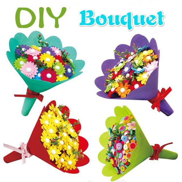 Hotsale Teachers Day Gifts Buttons Bouquet Kindergarten Diy Craft