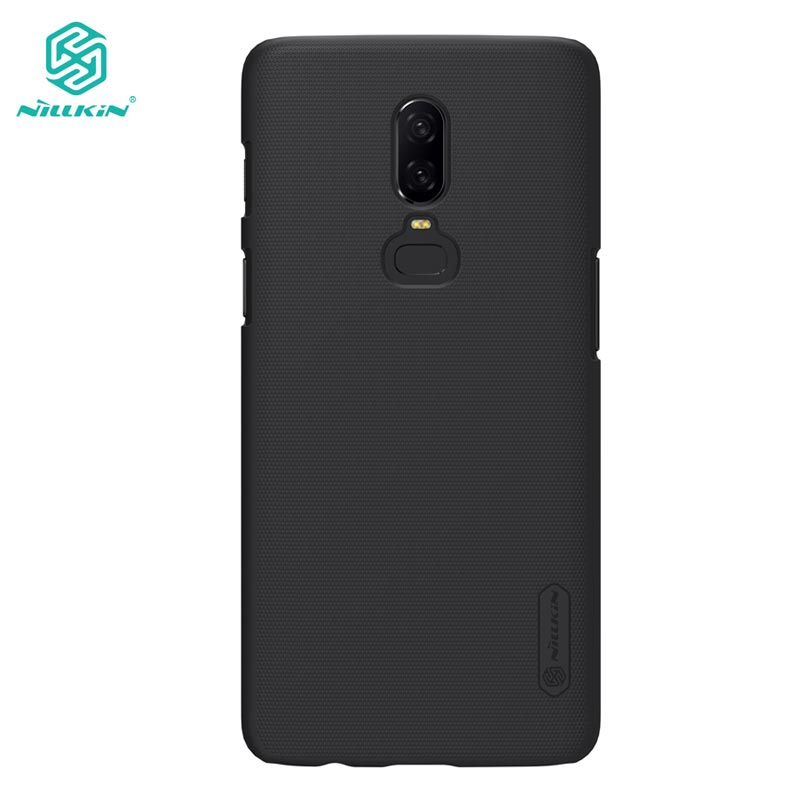 OnePlus 6 Case Nillkin Frosted Shield Hard Back Cover Case for OnePlus 6 One Plus 6 Oneplus6 Gift Screen Protector