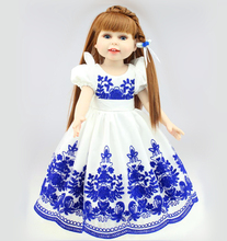 New 18 inch Simulation Handmade American Girl Dolls With Chinese Porcelain Style Clothing Vinyl Girl Doll Toys Brinquedos