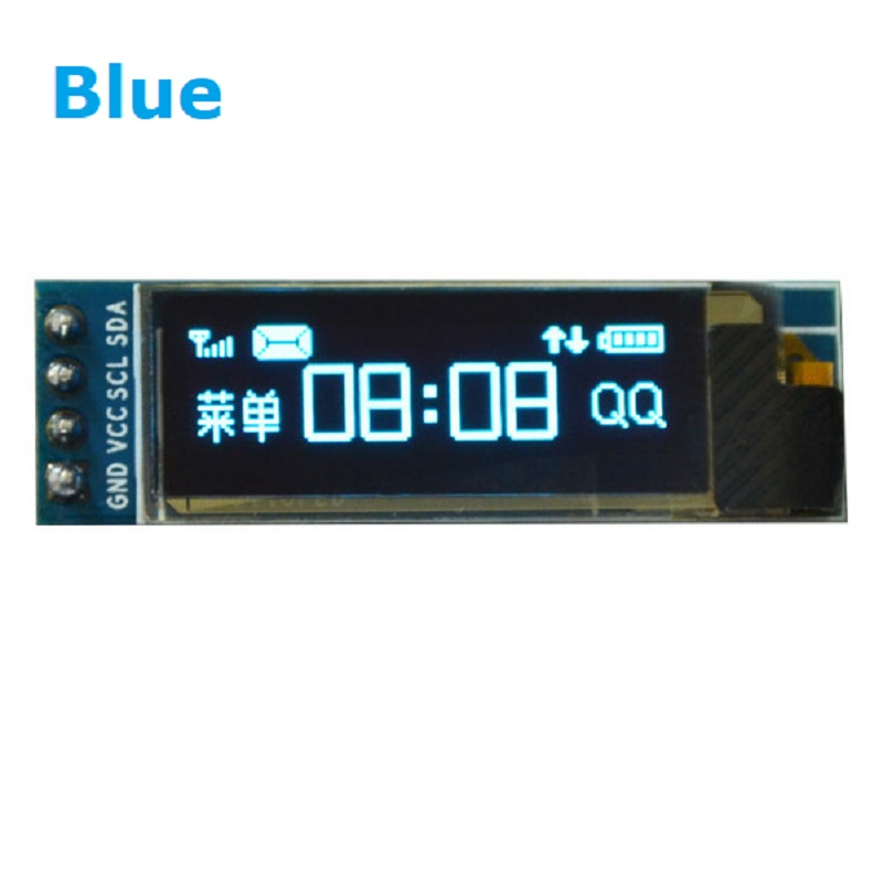 0.91 inch OLED module 0.91 blue OLED 128X32 OLED LCD LED Display Module 0.91 IIC Communicate 3.3v to 5v compatible arduino 0 96 inch yellow blue dual color oled display 12864 lcd screen module spi iic 3 3 5v interface