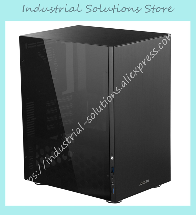 Jonsbo MATX all aluminum side panel chassis C3 support MATX board big power long video card mei wan and cherry universal hood board computer board control panel compatible with all brands of range hoods all