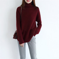 Autumn Winter Thick Turtleneck Warm Women Sweater Autumn Winter Knitted Femme Pull High Elasticity Soft Female Pullovers Sweater