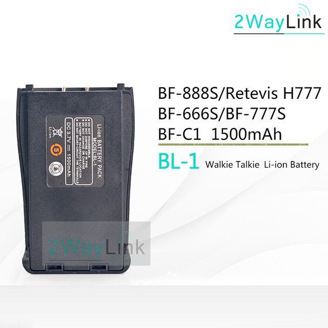 US $5 19  BF C1 Baofeng 888 Battery BL 1 for BF 666S Retevis H777 H 777  Battery BF 777S baofeng BF 888s Battery baofeng 888s BF 88E 3 7V-in Walkie