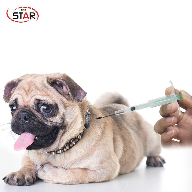 RFID wtryskiwacz microchip FDX-B ISO11784/5 NFC microchip strzykawka zwierząt ID pies implant chip zwierząt igły 2.12*12mm 1.4*8mm 1.25*7mm