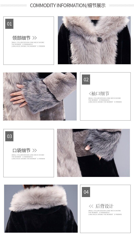 ANDVERY 2019 Новое поступление женский пуховик большого размера черный цвет верхней части с капюшоном плотное хлопковое длинное пуховое пальто ... - 5