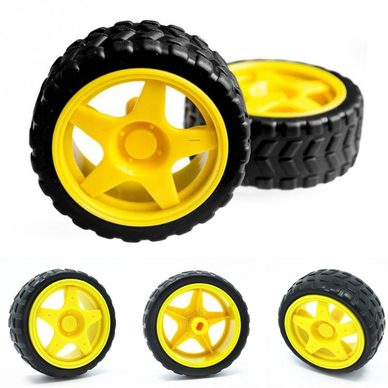 Rubber Wheel Robot Car Accessories Smart Car Tires Chassis Wheels SU