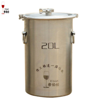20L Ã�ケット 304 Â�テンレス鋼バレルホーム醸造発酵バレルワイン & Ã�ール樽クランプデザイントップオープンコンテナ