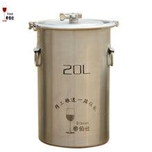 20L Cubo Barril de Cerveza en Casa de Acero Inoxidable 304 Abrazadera Diseño Barril Barril de Vino y Cerveza de Fermentación Recipiente Abierto de Arriba