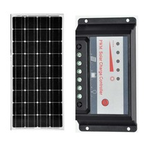 Solar Kit Pannello Solare 12v 100w Charge Controller 12v/24v 30A PWM Motorhome Caravaning Boats Yachts  Phone Charger