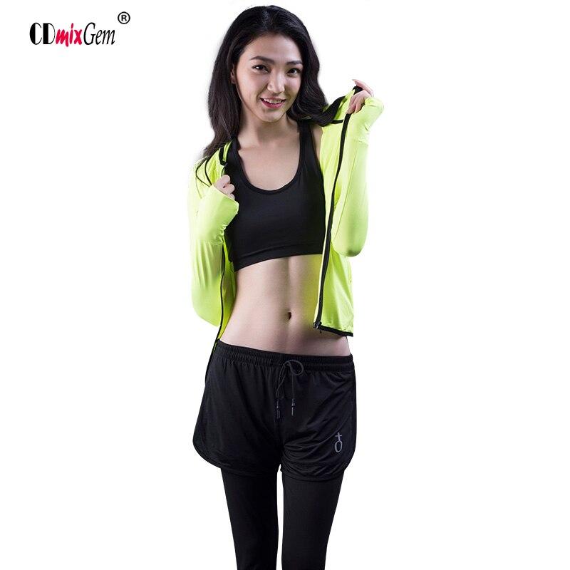 3 предмета, куртка + спортивный бюстгальтер + брюки, Куртка Для Бега Йога бюстгальтер упражнения брюки Для женщин Спортивные костюмы ...