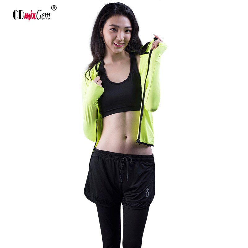 3pieces ,Jacket+Sports Bra+Pants,Running jacket Yoga bra Exercise Pants Women Trainning & Exercise Sets ...