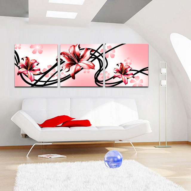 Colorful Flowers Painting Modern Decorative Items Wall For Bedroom Printed Artwork Business Man Gift