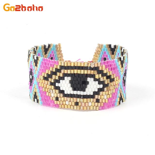 Go2boho Big eye braccialetti del polsino Delle Donne della ragazza Miyuki Seme P