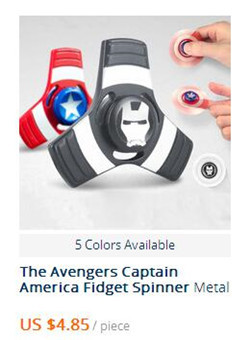 Hot Captain America Fidget Spinner  Metal Hand Spinner Toys Captain America Shield Tri-spinner Metal Finger Stress Toys