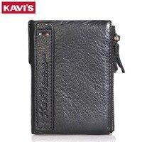 KAVIS Brand Genuine Leather Wallet Female Coin Purse Small Walet Portomonee Rfid And Lady Mini Money