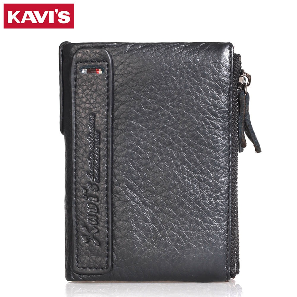 KAVIS Brand Genuine Leather Wallet Female Coin Purse Small Walet Portomonee Rfid And Lady Mini Money Bag For Girls Card Holder