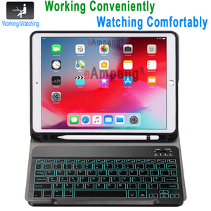 Image 2 - Backlit Keyboard Case for Apple iPad Air 10.5 2019 Air 3 Case for iPad Pro 10.5 2017 Bluetooth Keyboard Cover Funda Pencil Slot