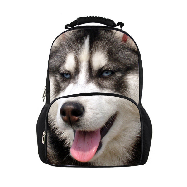 FORUDESIGNS 3D Pet Dog Backpack Fashion Student Bagpack Men's Large Animal Printing Backpack For Girls Travel Bag Women Backpack travel tale fashion cat and dog capsule pet cartoon bag hand held portable package backpack