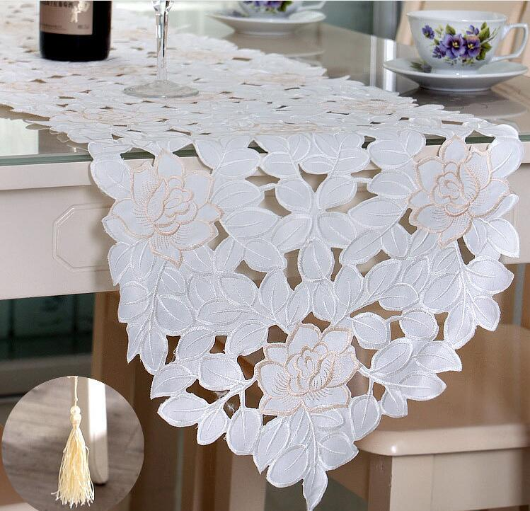 Fyjafon Table Runner 40*150cm To 40*246cm Runners Hollow Modern Table Runners Embroidered Table Runner Decoration On The Table