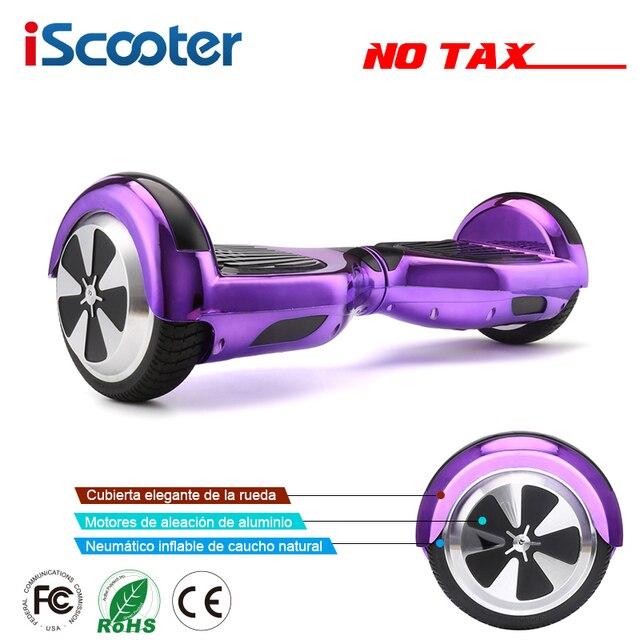 Iscooter ХОВЕРБОРДА Bluetooth 6.5 Дюймов Электрический скейтборд Hover доска гироскоп электрический скутер стоял скутер