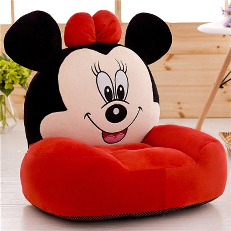 Bébé 1 pc 50 cm petit canapé Animal Mickey Minnie Totoro Jingle chat Pikachu peluche douce peluche haute qualité enfant Kawaii cadeau