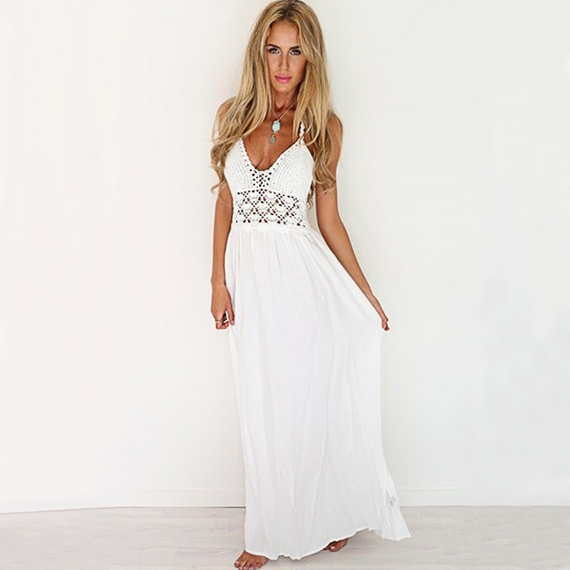 White Maxi Dress Summer New Arrival Women Sexy Boho Style ...