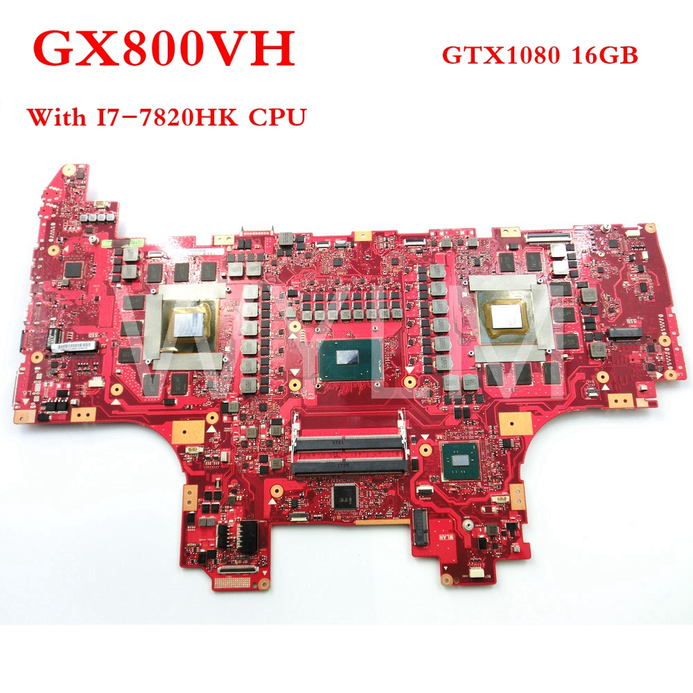 GX800VHK With I7-7820HK CPU GTX1080 16GB mainboard REV3.0 For ASUS GX800VH laptop motherboard Tested Working free shipping