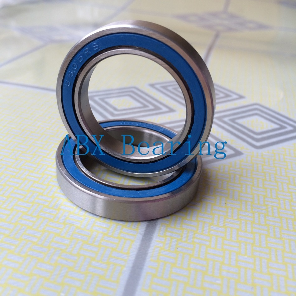 2pcs 6805N 6805N-2RS SI3N4 stainless steel hybrid ceramic bearing <font><b>25x37x6</b></font> 6805N 25376 bike wheel bottom bracket bearing BB51 HT2 image