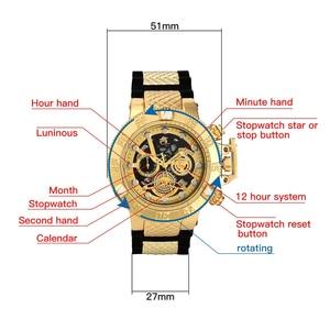 Image 5 - 2019 nouveau style modèle invaincu Super rotatif cadran chronomètre lumineux calendrier multifonction hommes montre à Quartz