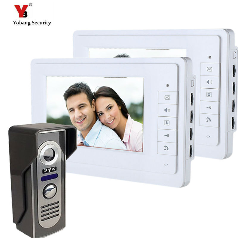 Yobang Security  7 inch Color Video door bell phone Intercom doorphone kit Video Monitor Security Camera Video Door Monitor yobang security video doorphone camera outdoor doorphone camera lcd monitor video door phone door intercom system doorbell