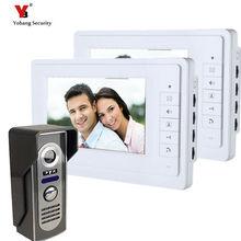 Yobang Security freeship 7 inch Color Video door phone Intercom doorphone kit Video Monitor Security Camera Video Door Monitor