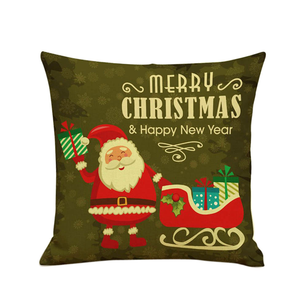 New Design Christmas Cartoon Sofa Bed Home Decoration Festival Pillow Cover Cushion Cove Santa Claus decorative throw pillows