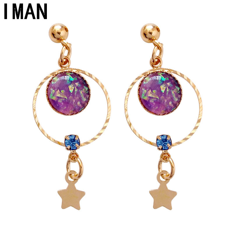 Brincos Earing Oorbellen Temperament Fashion Kawaii Girl Students Earrings Joker Spring 2018 Contracted The New Small Animals