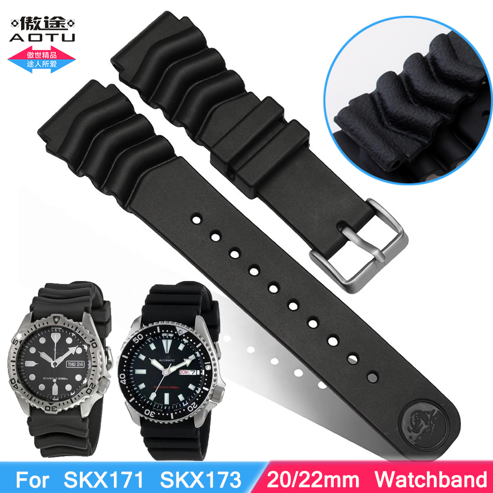 popular seiko watch strap buy cheap seiko watch strap lots from replacement for rubber diver watch strap silicone band for seiko skx171 skx173 sbbn013 dal0bp 22mm 20mm