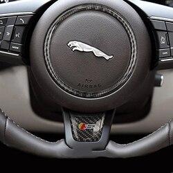 Estilo do carro acessórios para jaguar xfl e F-PACE xe xf xel xj s r esporte adesivo interior do carro de fibra carbono decoração adesivos