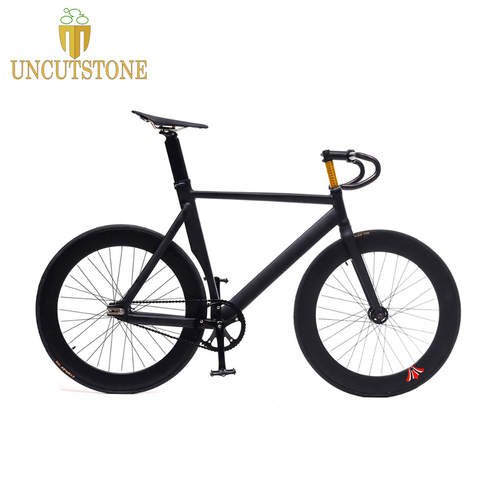 fixed gear bike frame 55cm 58cm matte black Bike frame Fixie Bicycle Frame Aluminum Alloy frame with carbon fork in Bicycle Frame from Sports Entertainment